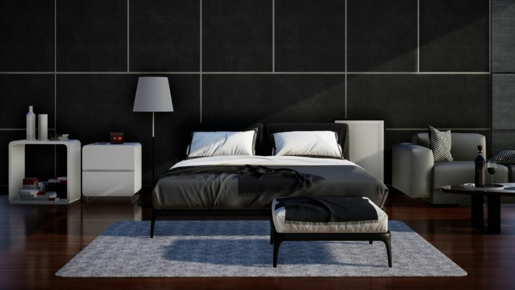Black Wall Bedroom