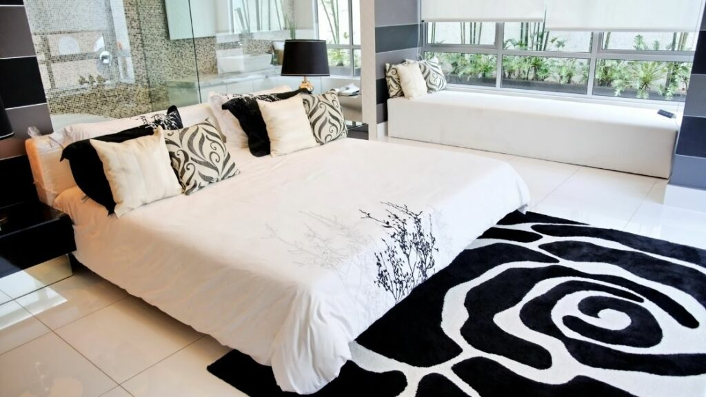 Black and White Pattern Bedroom