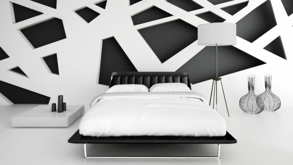 Black and White Pattern Wall