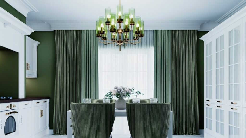 Green Colored Chandelier