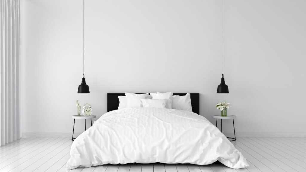 Stark White Bedroom Wall