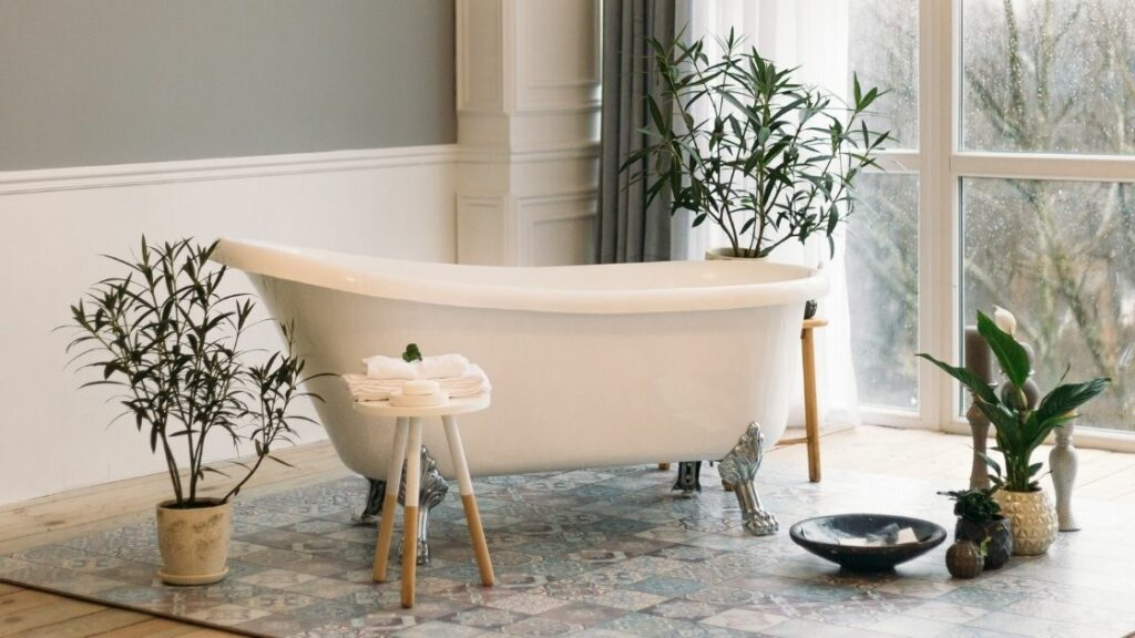 Clawfoot Bathtub With Forest Views