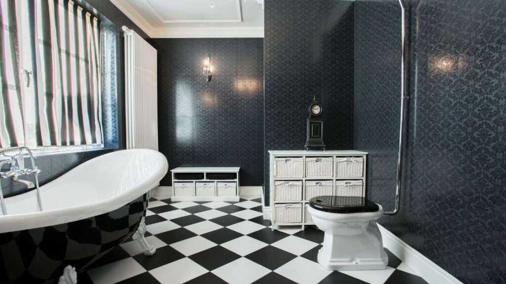 Luxury Black and White Bathroom