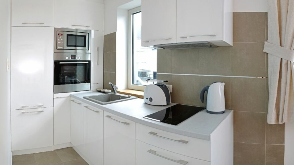 Modern Small Curved Kitchen