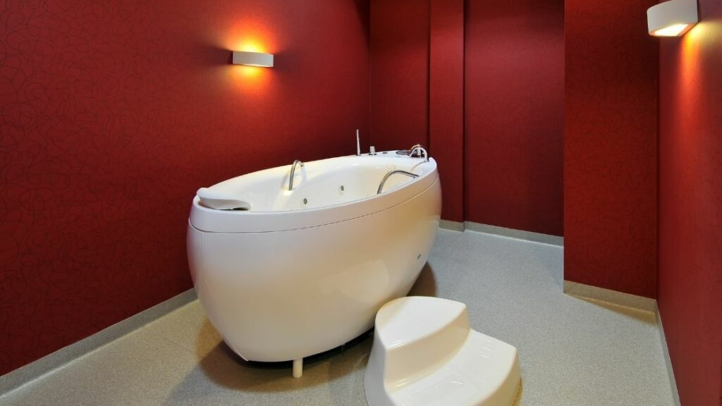 Red Luxury Bathroom