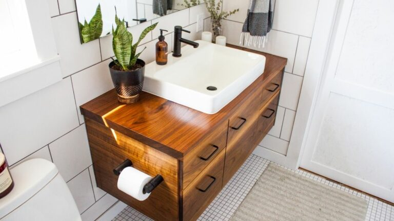 Single Sink Wood Bathroom Vanity